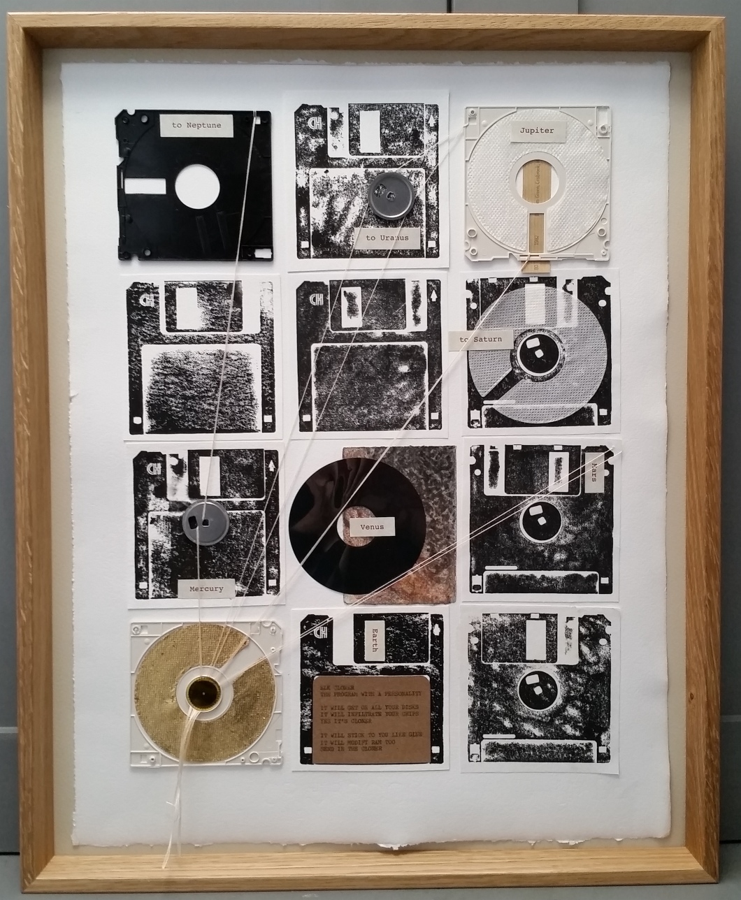 80_1982_Turning Tide_Helen Stone_paper and floppy disk montage 1