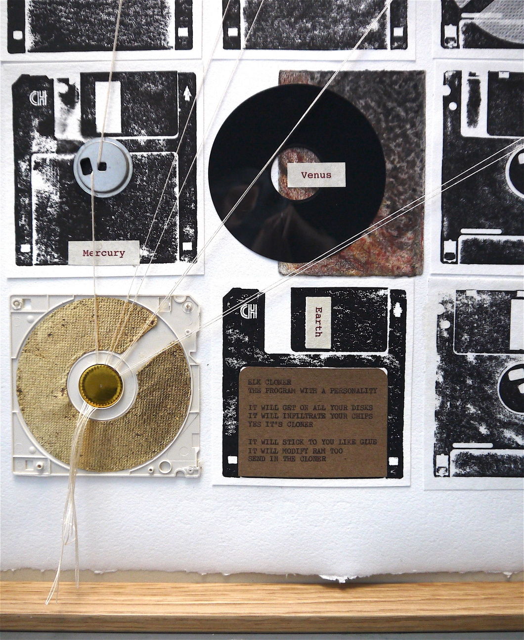 80_1982_Turning Tide_Helen Stone_paper and floppy disk montage 5