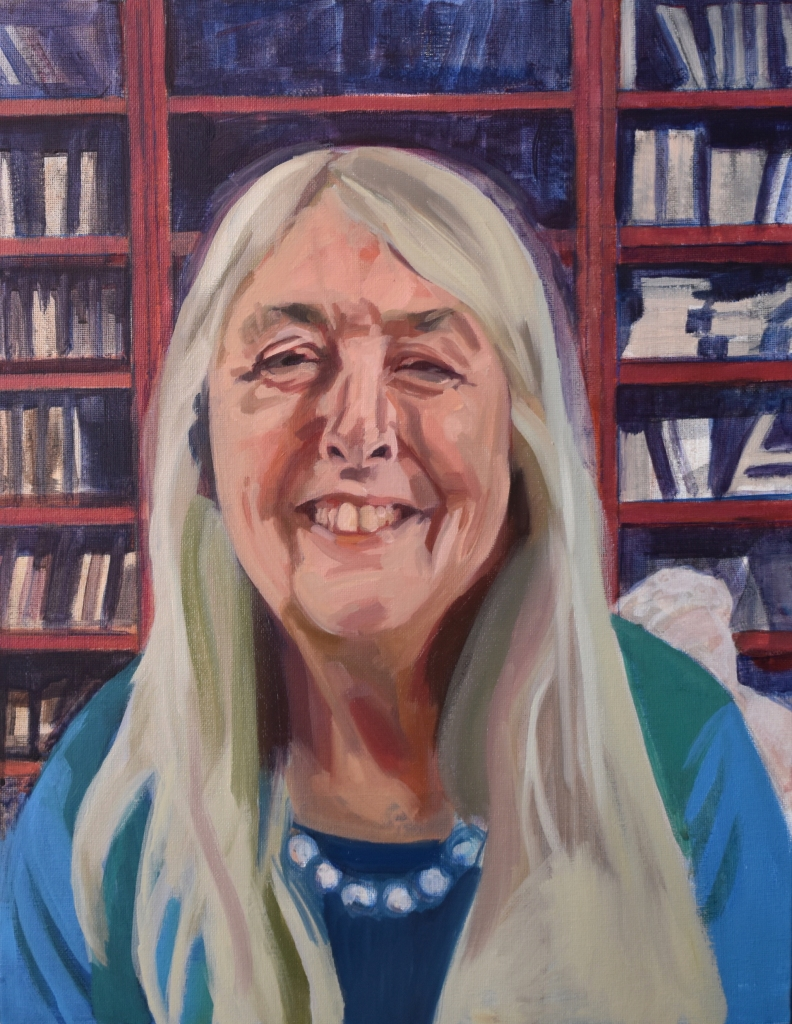 Portrait of Dame Mary Beard by Helen Stone as part of Sky Portrait Artist of the Week on Facebook